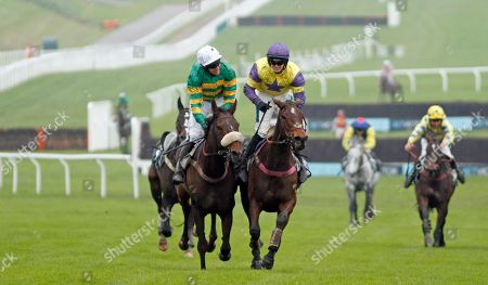 HAPPY DIVA (right, Richard Patrick) beats BRELAN D'AS (left, Barry Geraghty) in The BetVictor Gold Cup Cheltenham