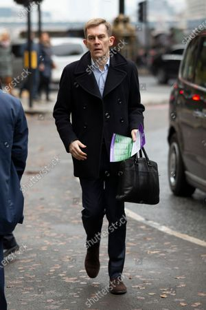 Labour Party Executive Director of Strategy and Communications Seumas Milne arrives for a Labour NEC meeting at Savoy Place.