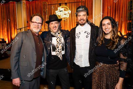 Stock Picture of Rainn Wilson, Michael Franti, Sara Agah Franti, James Curleigh
