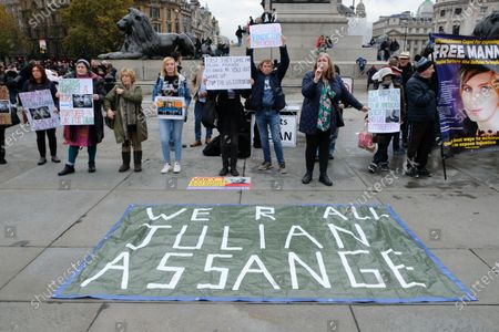 Editorial picture of Free Julian Assange and Chelsea Manning protest, London, UK - 16 Nov 2019