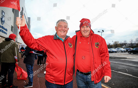 Ospreys vs Munster. Munster fans James Moore and Donal Doherty from Portlaoise