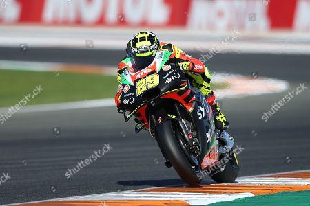 #29 Andrea Iannone, Italian: Aprilia Racing Team Gresini during the Gran Premio Motul de la Comunitat Valenciana at Circuito Ricardo Tormo Cheste, Valencia
