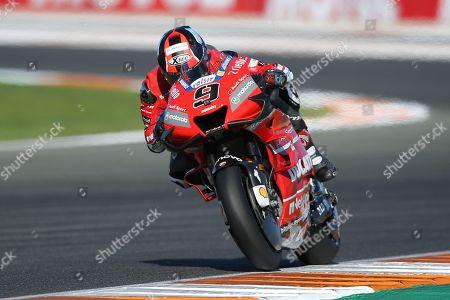 Stock Photo of #9 Danilo Petrucci, Italian: Mission Winnow Ducati Team during the Gran Premio Motul de la Comunitat Valenciana at Circuito Ricardo Tormo Cheste, Valencia