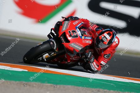 Stock Image of #9 Danilo Petrucci, Italian: Mission Winnow Ducati Team during the Gran Premio Motul de la Comunitat Valenciana at Circuito Ricardo Tormo Cheste, Valencia