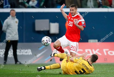 Editorial picture of Russia Belgium Euro 2020 Soccer, St. Petersburg, Russian Federation - 16 Nov 2019