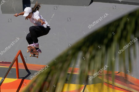 Pamela Rosa of Brazil competes in the Skate Park World Championship in Rio de Janeiro, Brazil