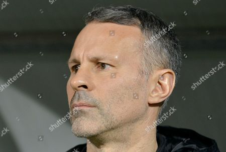 Wales' head coach Ryan Giggs looks on before the the Euro 2020 group E qualifying soccer match between Wales and Azerbaijan at the Olympic stadium in Baku, Azerbaijan