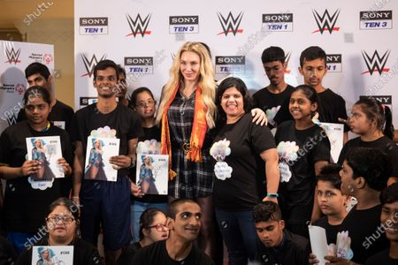 10-time WWE Women's Champion Charlotte Flair celebrates Childrens day with the children from Special Olympics Bharat