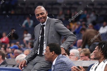 Memphis' head coach Penny Hardaway was all smiles towards the end of an NCAA college basketball game against Alcorn State, in Memphis, Tenn