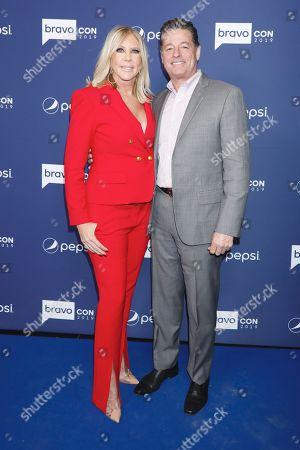Stock Photo of Vicki Gunvalson and fiance Steve Lodge