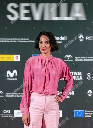 Jeanne Balibar poses before receiving the City of Seville award during the closing ceremony of the 16th Seville European Film Festival, in Seville, Spain, 16 November 2019.