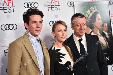 Josh O'Connor, Erin Doherty and Peter Morgan