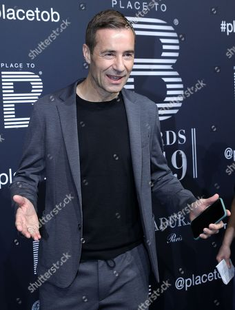 Moderator Kai Pflaume poses on the black carpet for the 'Place to B' awards, in Berlin, Germany, 16 November 2019. The event awards the most important and influential German social media personalities.