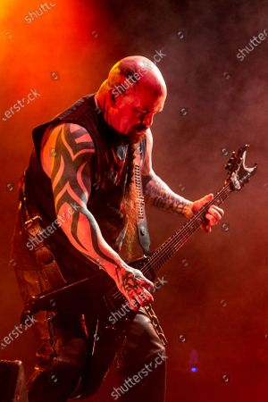 Stock Image of Slayer - Kerry King perfroming during 'The Final Campaign' tour