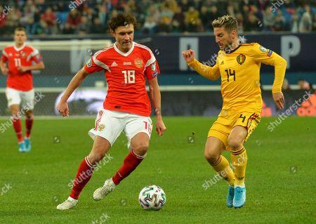 Yuri Zhirkov and Dris Mertens
