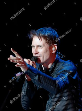 Stock Picture of Alex Kapranos, of Franz Ferdinand, performs during the Corona Capital music festival in Mexico City