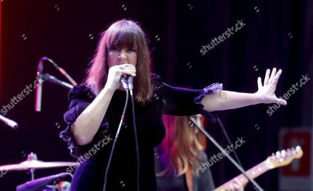 """Stock Photo of Cat Power, Charlyn Marie """"Chan"""" Marshall. American singer-songwriter Cat Power performs during the Corona Capital music festival in Mexico City"""