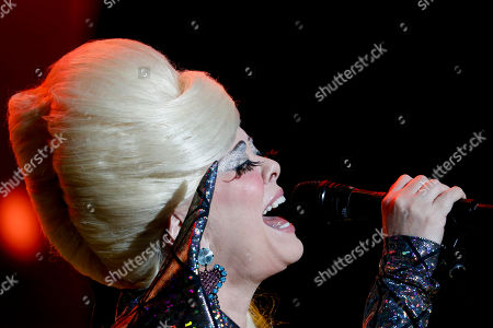 The singer Cindy Wilson, member of the American new wave rock band B-52s, performs during the Corona Capital music festival in Mexico City
