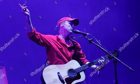 Francis Healy, Fran Healy. Fran Healy, a British musician and songwriter of the band Travis, performs during the Corona Capital music festival in Mexico City