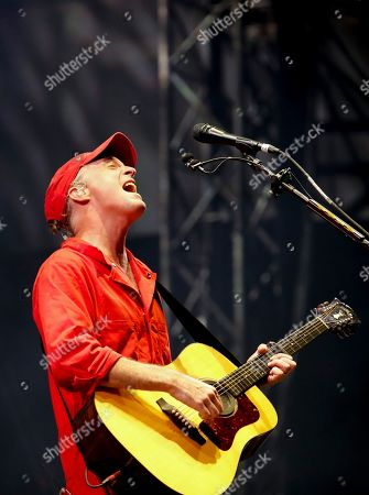 Fran Healy a British musician and songwriter of the band Travis, performs during the Corona Capital music festival in Mexico City