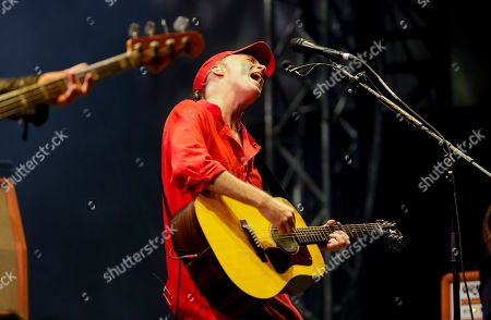 Fran Healy, a British musician and songwriter of the band Travis, performs during the Corona Capital music festival in Mexico City