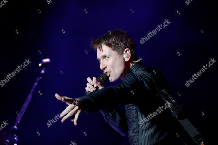 Alex Kaprano,s of Franz Ferdinand, performs during the Corona Capital music festival in Mexico City