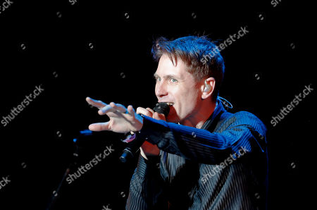 Alex Kapranos of Franz Ferdinand, performs during the Corona Capital music festival in Mexico City