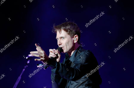 Stock Photo of Alex Kapranos, of Franz Ferdinand, performs during the Corona Capital music festival in Mexico City