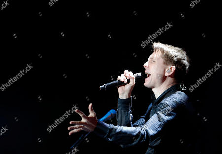 Alex Kapranos, of Franz Ferdinand, performs during the Corona Capital music festival in Mexico City