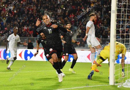 Tunisia's Wahbi Khazri celebrates after scoring a goal