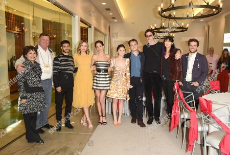 Jessica Barden, Dean-Charles Chapman, Jacob Elordi, Kelsey Chow, Liana Liberato, Mena Massoud, Miki Cunat, and Brian Cunat attend the Rising Star Showcase held at Materra Cunat Family Vineyards at the Napa Valley Film Festival, Napa, CA @NapaFilmFest #NVFF19