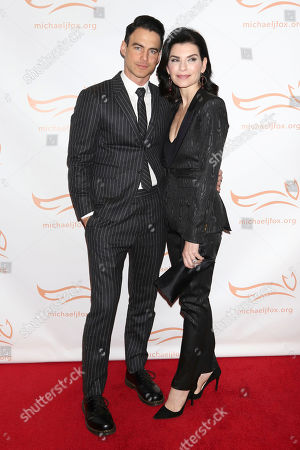 """Keith Lieberthal, Julianna Margulies. Keith Lieberthal and Julianna Margulies attend the Michael J Fox Foundation's """"A Funny Thing Happened on the Way to Cure Parkinson's"""" Gala to benefit Parkinson's research at the Hilton New York, in New York"""