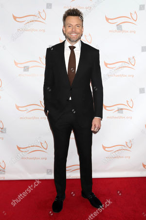 """Joel McHale attends the Michael J Fox Foundation's """"A Funny Thing Happened on the Way to Cure Parkinson's"""" Gala to benefit Parkinson's research at the Hilton New York, in New York"""
