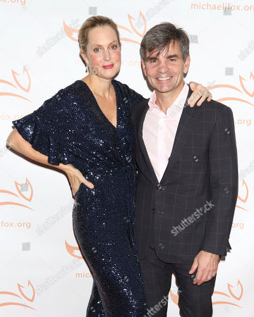 """Alexandra Wentworth, George Stephanopoulos. Alexandra Wentworth and George Stephanopoulos attend the Michael J Fox Foundation's """"A Funny Thing Happened on the Way to Cure Parkinson's"""" Gala to benefit Parkinson's research at the Hilton New York, in New York"""