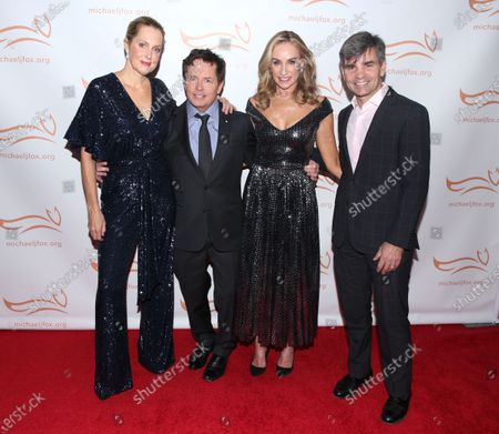 Alexandra Wentworth, Michael J Fox, Tracy Pollan and George Stephanopoulos