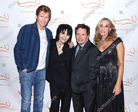 Denis Leary, Joan Jett, Michael J Fox and Tracy Pollan