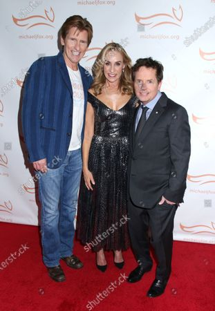 Stock Image of Denis Leary, Tracy Pollan and Michael J Fox