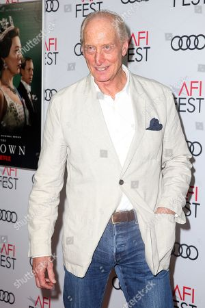 Charles Dance arrives at the AFI Fest red carpet for the 'The Crown' premiere at TCL Chinese Theatre in Hollywood, California, USA, 16 November 2019. Season three of â??The Crown starts airing on 17 November.