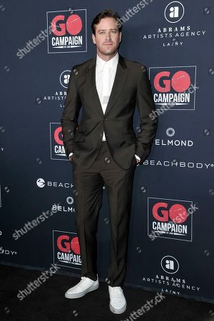 Armie Hammer attends the 13th Annual Go Gala at NeueHouse Hollywood, in Los Angeles