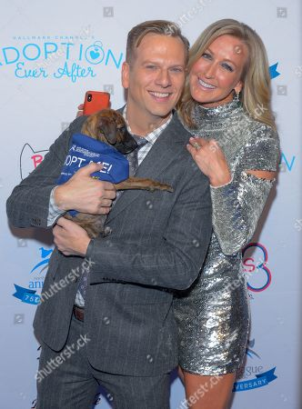 Brian Balthazar and Lara Spencer attend the North Shore Animal League, America's Annual Get Your Rescue On Gala at Pier Sixty New York City