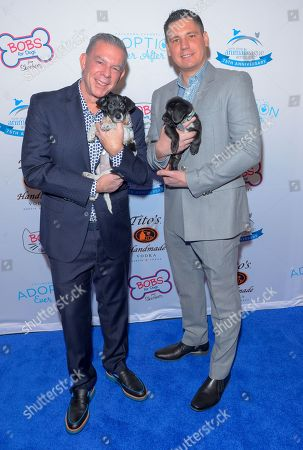 Elvis Duran and Alex Carr attend the North Shore Animal League, America's Annual Get Your Rescue On Gala at Pier Sixty New York City