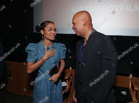 Stock Photo of Yara Shahidi and Bryan Stevenson - Writer/Executive Producer
