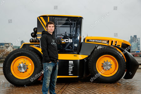 Guy Martin with a JCB Fastrac