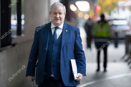 The Scottish National Party's Westminster Leader Ian Blackford arrives at the BBC.