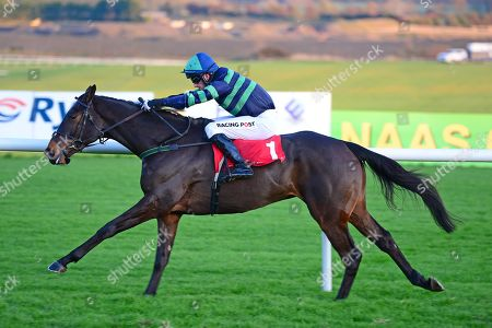 Stock Picture of PUNCHESTOWN. DEWCUP and Patrick Mullins winning for trainer TED WALSH.