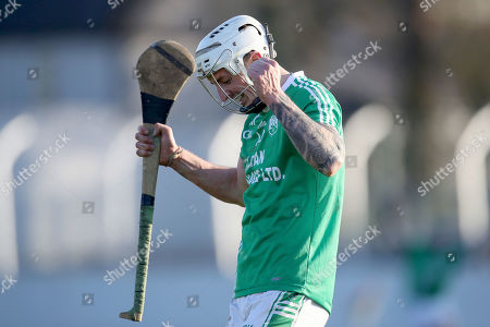 St. Mullin's (Carlow) vs Rathdowney-Errill (Laois). St Mullin's James Doyle celebrates at the final whistle