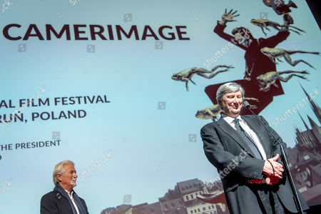 Stock Picture of American film director and cinematographer John Bailey (R) and US actor Richard Gere (L) join the closing gala of the 27th edition of the EnergaCamerimage Festival, in Torun, Poland, 16 Noveber 2019 (issued 17 November 2019). Richard Gere was presented with the festival's special award for an actor, Baily was honored with a lifetime achievement award. The film festival ran from 09 to 16 November 2019.