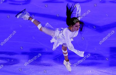Evgenia Medvedeva of Russia performs during the Gala exhibition of the 2019 Rostelecom Cup of Russia ISU Grand Prix of Figure Skating in Moscow, Russia, 17 November 2019.