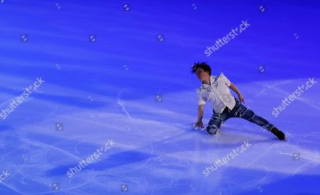 Shoma Uno of Japan performs during the Gala exhibition of the 2019 Rostelecom Cup of Russia ISU Grand Prix of Figure Skating in Moscow, Russia, 17 November 2019.