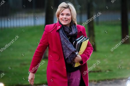 Stock Photo of German Minister of Food and Agriculture Julia Kloeckner arrives for a cabinet meeting at the Meseberg palace in Gransee, Germany, 17 November 2019. The German cabinet meets from 17 to 18 November 2019 for a retreat.